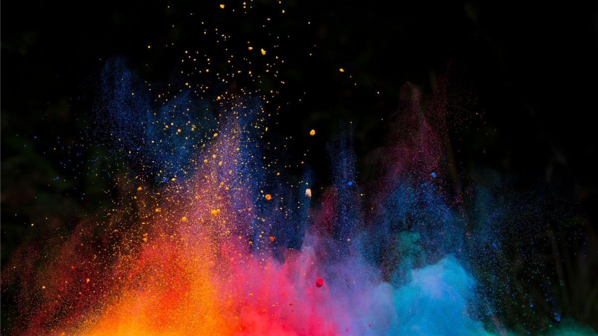 Colour-paint-powder